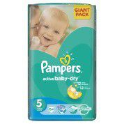 Pampers - Active Baby Nappies - Giant Pack - Size 5