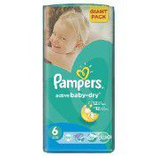Pampers - Active Baby Nappies - Size 6 - Giant Pack (56 count)