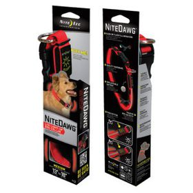 Nite Ize Nite Dawg LED Dog Collar - Medium - Red