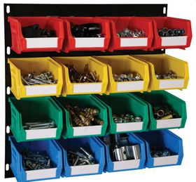 Linvar - 41 Piece Storage Bin Kit - Multi Colour