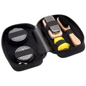 Eco 5 Piece Shoe Shine Travel Kit - Black