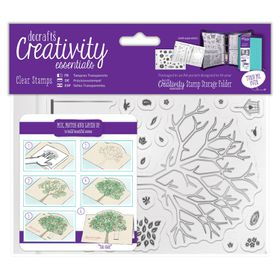 Docrafts Creativity Essentials A6 Clear Stamp Set - Build a Tree