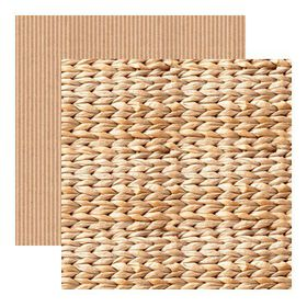 Kaisercraft Base Coat Double Sided Paper - Woven (10 Sheets)