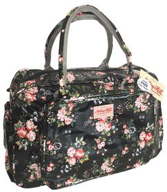 Notting Hill Large Pocket Nappy Bag - Black Floral