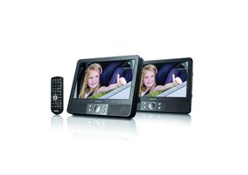 "Lenco 9"" Dual Screen Portable DVD Player"