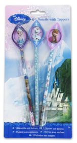 Disney Frozen 3 Pencils with Toppers