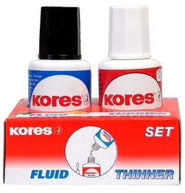 Kores Liquid Correction Set - Fluid & Thinner