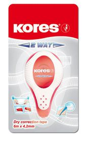 Kores 2 Way Dry Correction Tape - 6m x 4.2mm