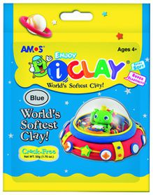Amos iClay 50g Packet - Blue