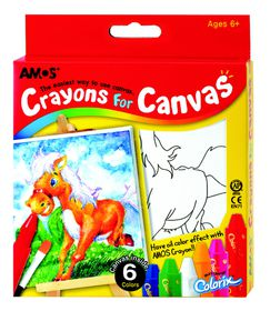 Amos Crayons For Canvas - Horse