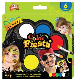 Amos Face Deco Color Fiesta Carnival Kit