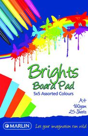 Marlin A4 Brights Project Board Pad 25 Sheets