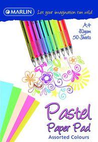 Marlin A4 Pastels Paper Pad 50 Sheets