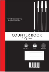 Freedom Stationery 1-Quire 96 Page A4 Q&M Counter Book (10 Pack)