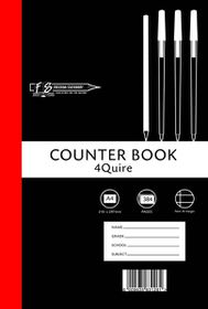 Freedom Stationery 4-Quire 384 Page A4 F&M Counter Book (3 Pack)