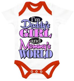 "The Funky Shop - ""I'm Daddy's girl - in mommy's world' Baby Grow"
