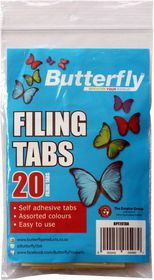 Butterfly 20 Filing Tabs