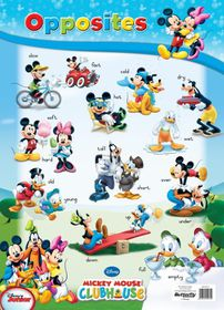 Butterfly Wallchart - Mickey Mouse Opposites