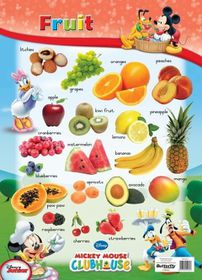 Butterfly Wallchart - Mickey Mouse Fruit