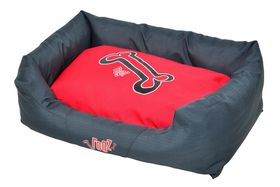Rogz - Spice Podz Dog Bed - Large - Red Rogz Bones Design