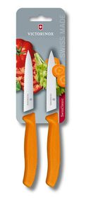 Victorinox - 2 Piece 10 cm Paring - Orange