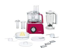 Bosch - Styline Food Processor - Red & Silver