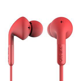 De Func +Music Earphones - Red