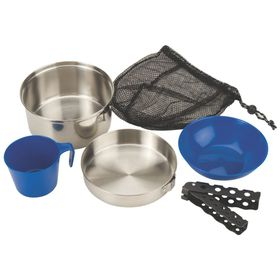 Coleman - 1 Person 6 Piece Steel Mess Kit - Silver