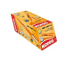 Kores K-Marker Highliner Chisel Tip Highlighters - Orange (Box of 12)