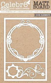 Celebr8 Matt Board Maxi - Cog Frame & Flourish Set