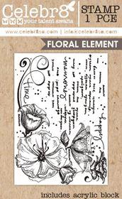 Celebr8 Stamp - Flower Corner