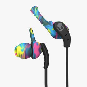 SkullCandy Xtplyo Sports Earphones with Mic 1 - Swirl/Black/Gray