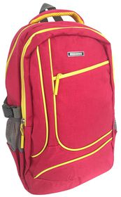 Edison Sport 200D Twill Neon Trim Backpack - Pink and Yellow