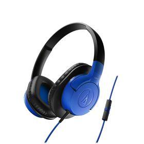 Audio Technica SonicFuel Headphones with Remote & Mic - Blue