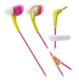Audio Technica SonicSport In-Ear Headphones - Yellow & Pink