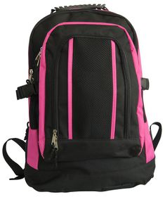 Gotcha Student Laptop Backpack - Black & Pink