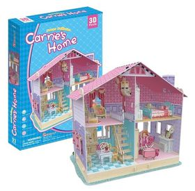 Cubic Fun Dream Dollhouse Carrie's Home 93pieces 3D Puzzle
