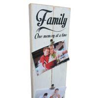 "Prettish Photo Clip Board - ""Family - One memory at a time"" - White"