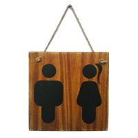 Prettish Restroom Sign - Hanging Stain