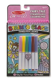 Melissa & Doug On The Go Stained Glass Fairy Tale