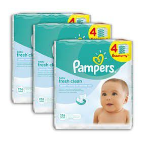 Pampers - Baby Wipes Fresh 12 x 64 Wipes