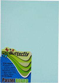 Butterfly A4 Pastel Board 100s - Blue