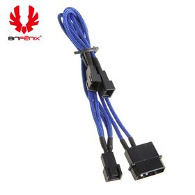 BitFenix Power Splitter Cable - 20cm Length - Blue / Black