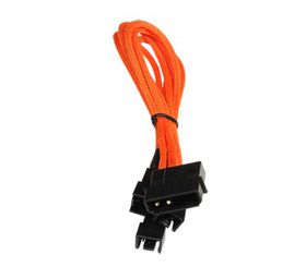 BitFenix Power Splitter Cable - 20cm Length - Orange / Black