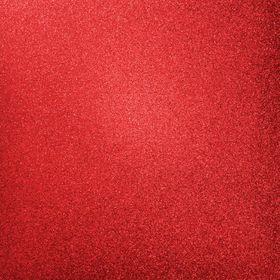 Kaisercraft 12 x 12 Glitter Cardstock - Ruby (5 Sheets)
