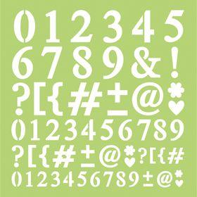 Kaisercraft 12 x 12 Template - Number & Punctuation