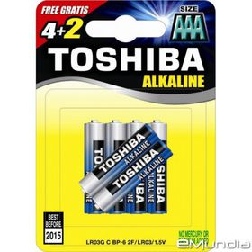 Toshiba Alkaline AAA Batteries