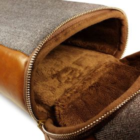 Tuff-Luv Herringbone Tweed NFC Travel Case - Brown