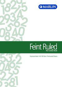 Marlin A5 Duplicate Pen Carbon Book - Feint Ruled