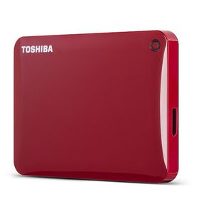 Toshiba Canvio Connect II 1TB USB 3.0 External Hard Drive - Red